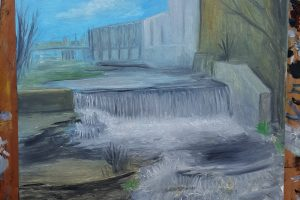 Oil Painting of Vermillion Falls Park, Hastings MN