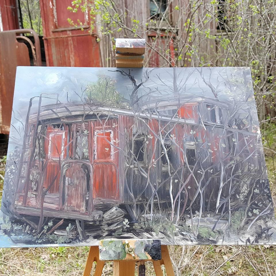 Grey Cloud Island oil Painting